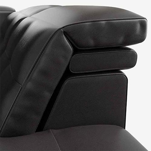 dettaglio divano in pelle